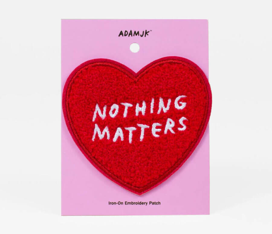 Adam J Kurtz Nothing Matters Chenille Iron-On Patch