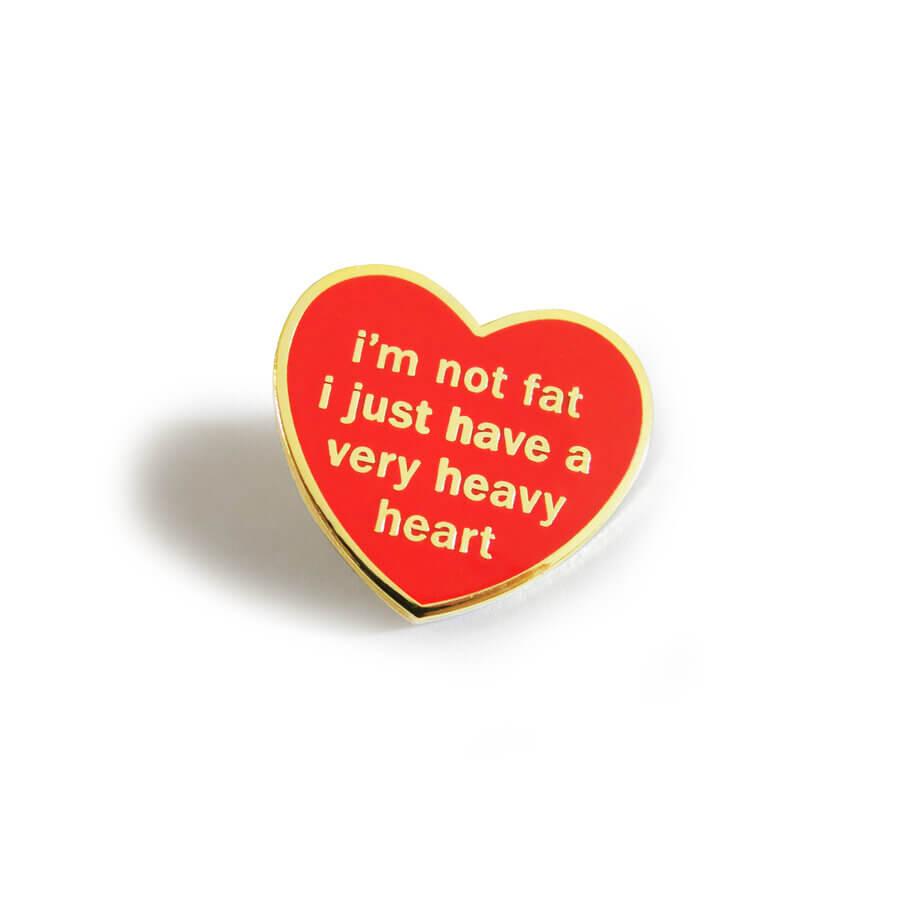 Adam J Kurtz Heavy Heart Lapel Pin