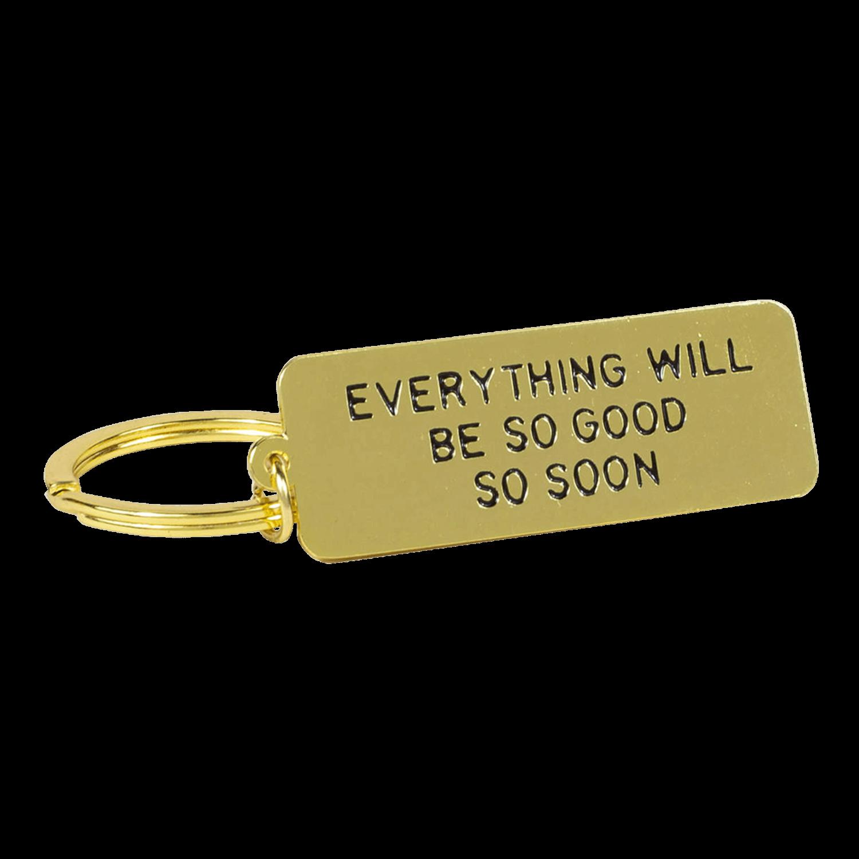 Adam J Kurtz Everything Keychain Gold