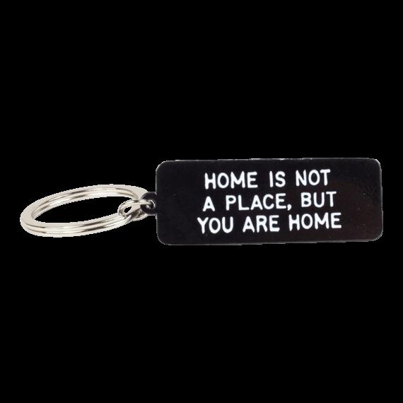 Adam J Kurtz Home is Not a Place Keychain Black