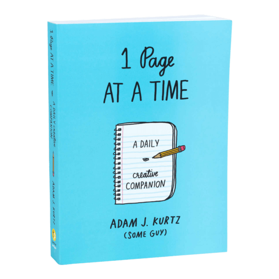 Adam J Kurtz 1 Page At A Time Journal Blue