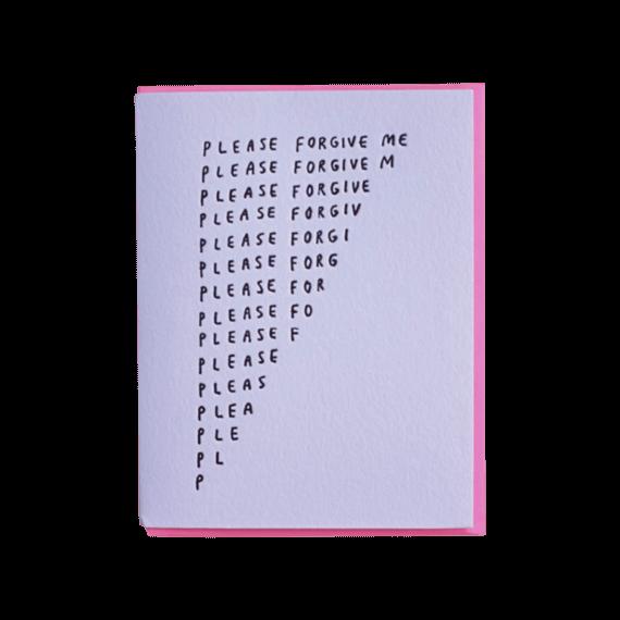 Ashkahn Please Forgive Me Notecard