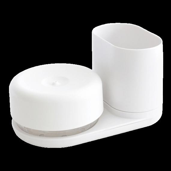 Bosign Do-Dish Caddy Dish Soap Pump Sink Organiser Set White