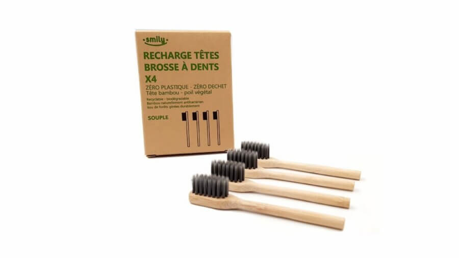 Cookut Adults Toothbrush Refills Souple Set of 4