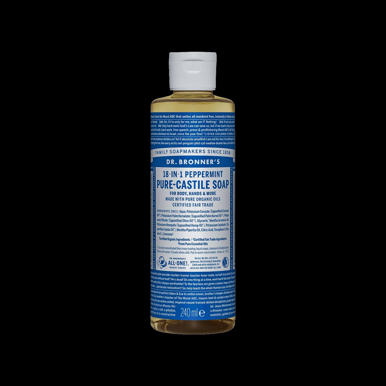 Dr Bronner Pure Castile Liquid Soap - 240ml, b