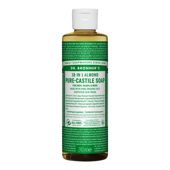 Dr Bronner Pure Castile Liquid Soap - 240ml, gd
