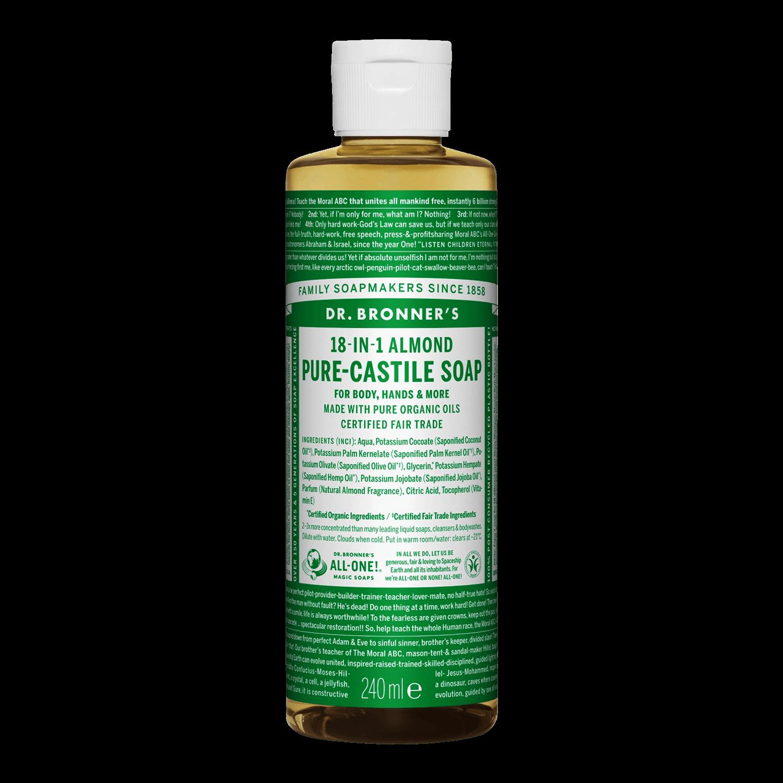 Dr Bronner Pure Castile Liquid Soap - 240ml, gd
