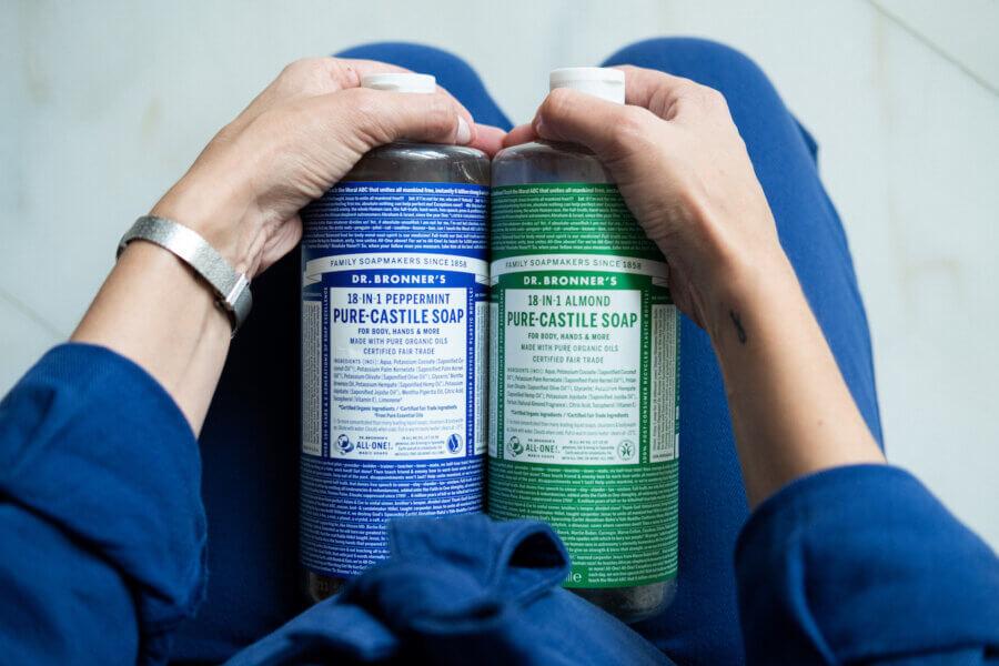 Dr Bronner Pure Castile Liquid Soap - 945ml, b