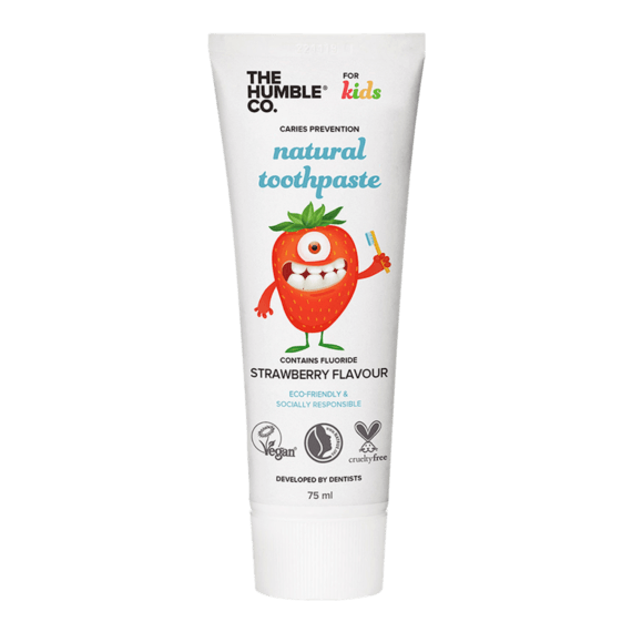 The Humble Co Natural Toothpaste Kids Strawberry 75ml