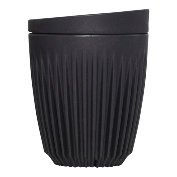 Huskee Cup & Lid Charcoal - 24cl, ic