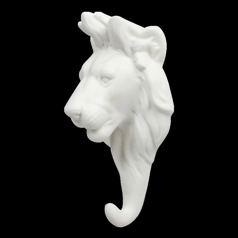 &klevering Hook Lion Porcelain White