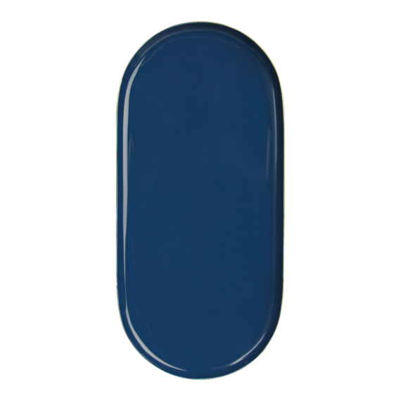 &klevering Tray Metal Oval Blue