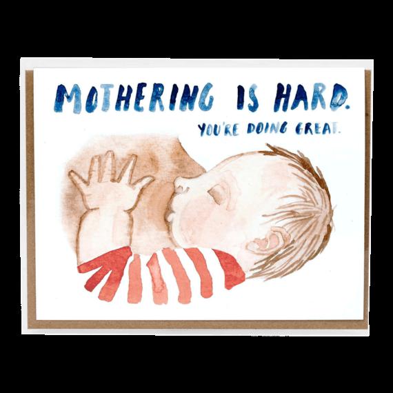 Little Truths Studio Mothering is Hard Notecard