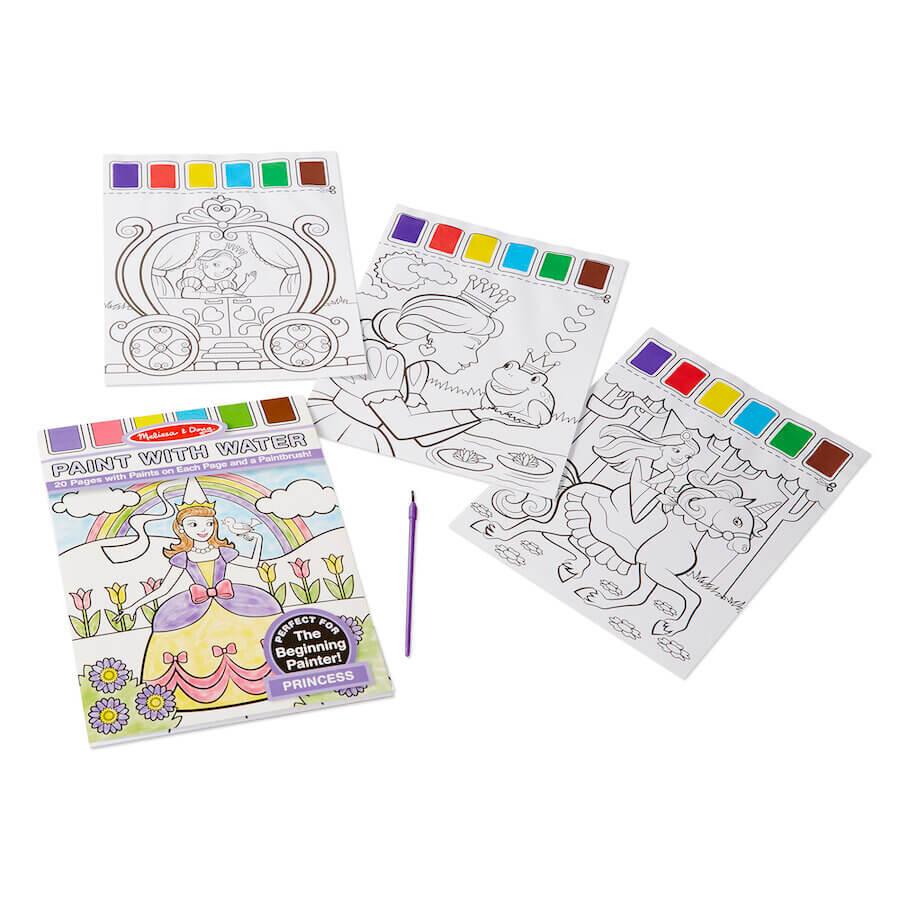 Melissa & Doug Paint with Water Kids Art Pad Princess