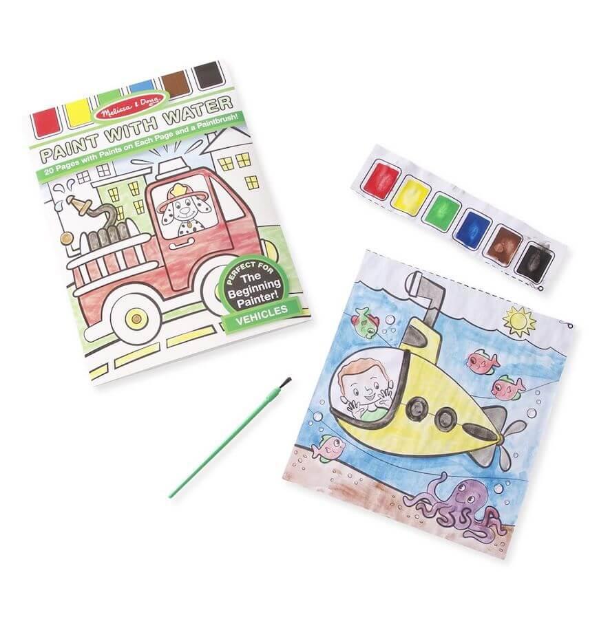 Melissa & Doug Paint with Water Kids Art Pad Vehicles