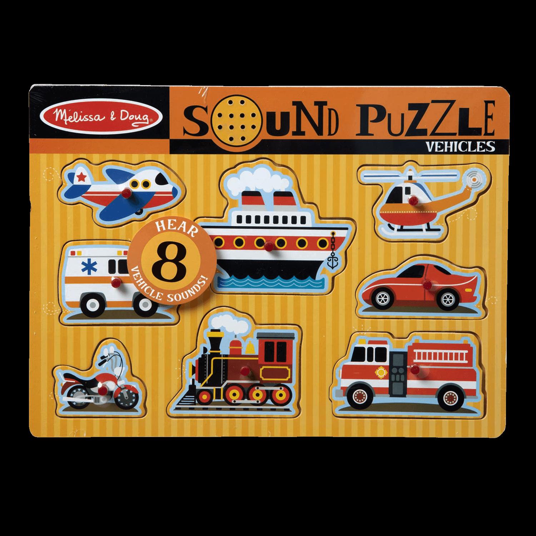 Melissa & Doug Sound Puzzle 8 Pieces Vehicles