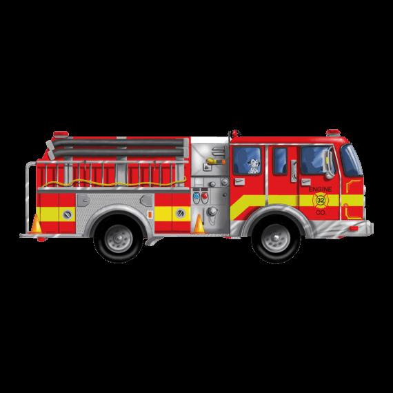 Melissa & Doug Floor Puzzle 24 Pieces Giant Fire Truck