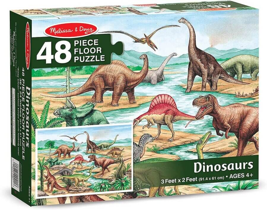Melissa & Doug Floor Puzzle 48 Pieces Dinosaurs