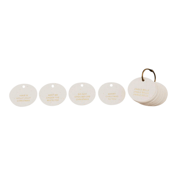 Monograph Round Gift Tags Set of 50
