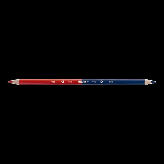 Milan Maxi Bicolour Red-Blue Triangular Pencil