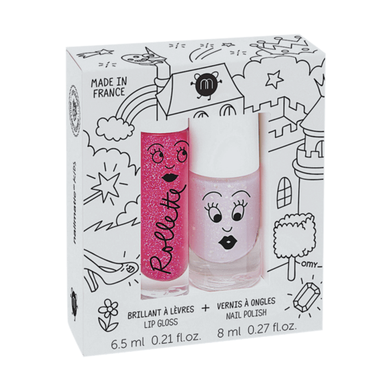 Nailmatic Kids Nail Polish Rollette Duo Set Fairytales