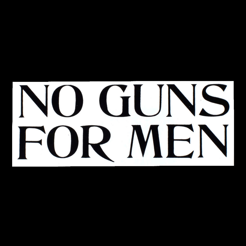 Nicole Lavelle Sticker No Guns For Men