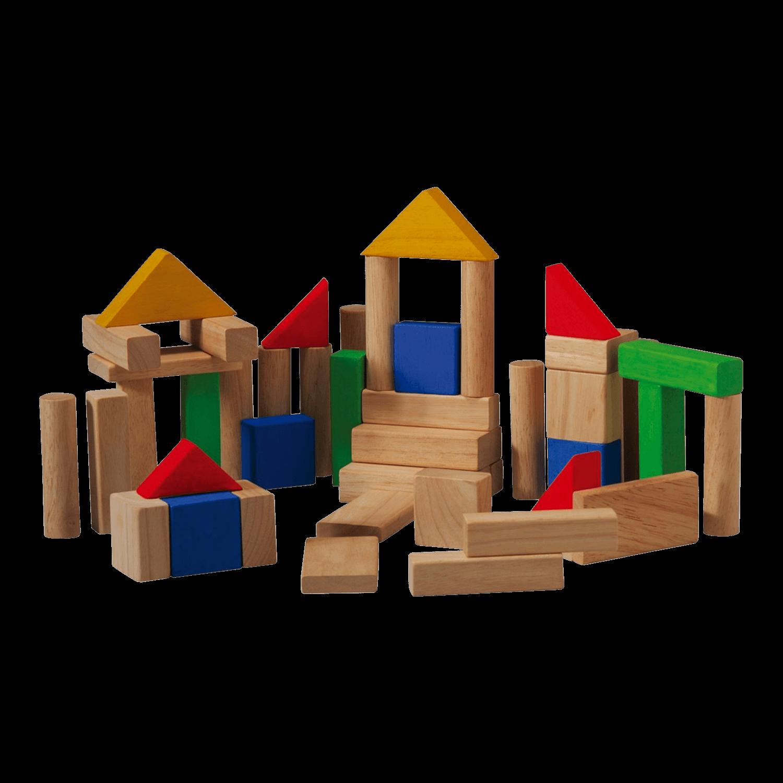 PlanToys Wooden Blocks Set of 50