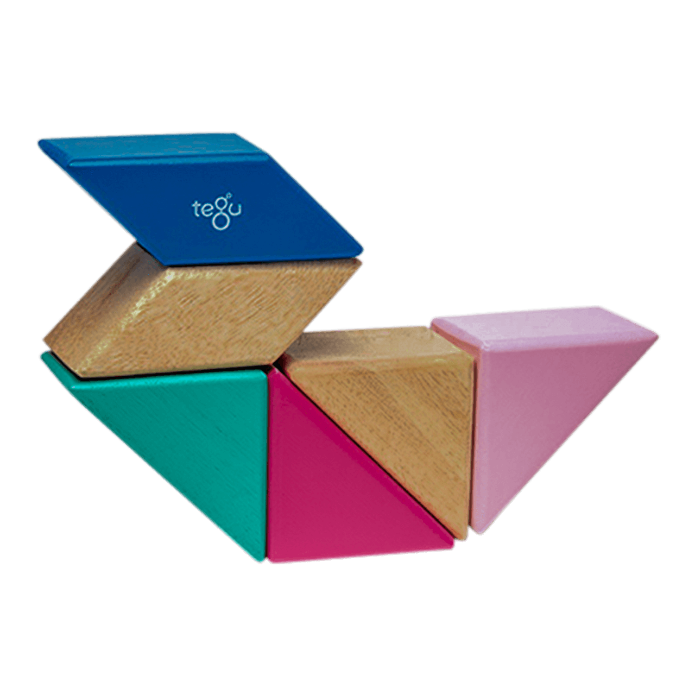 Tegu Pocket Pouch Prism Blossom Set of 6