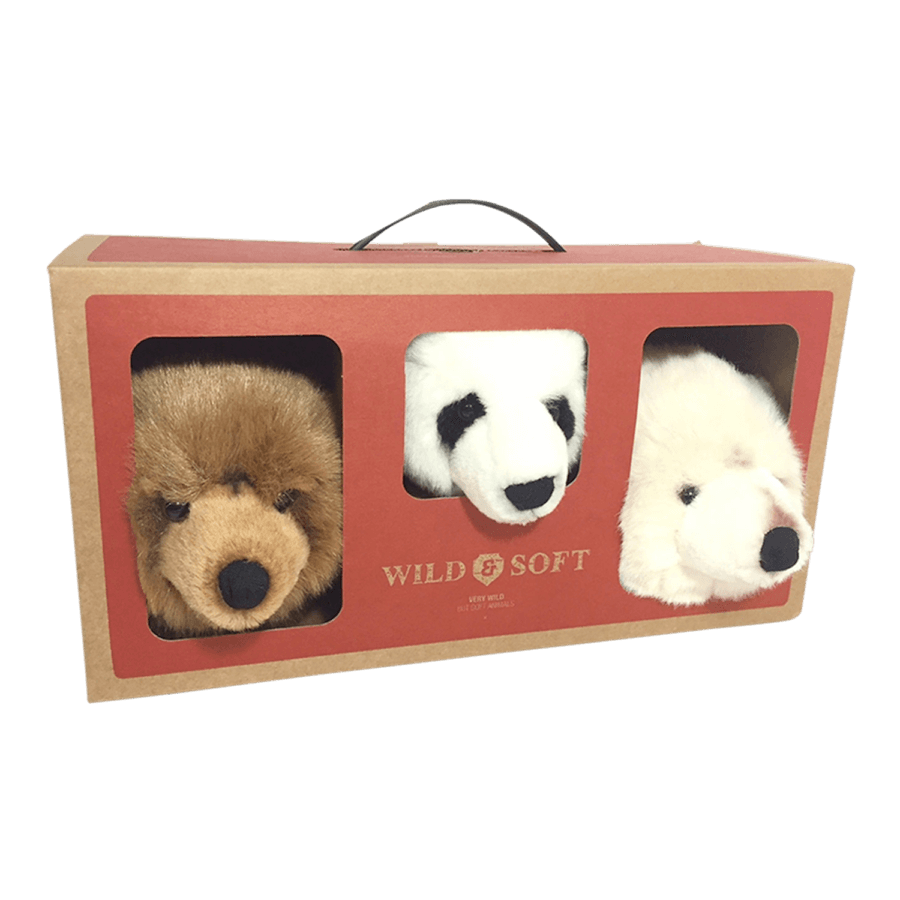 Wild And Soft Small Head Bear Set