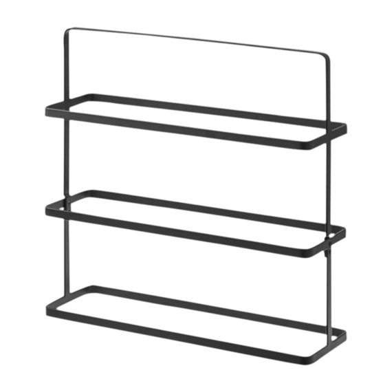 Yamazaki Tower Shoe Rack Wide Black