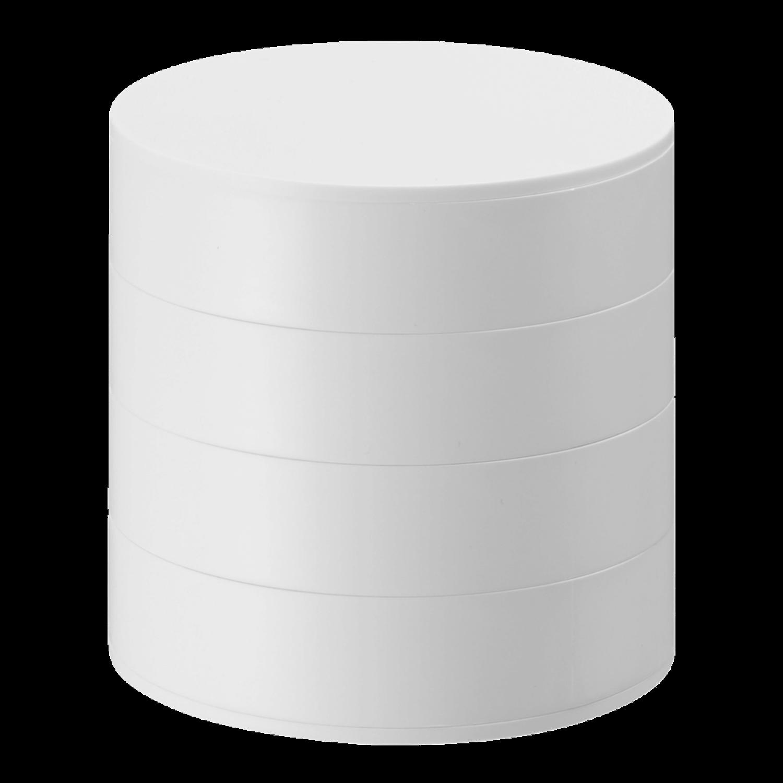 Yamazaki 4 Tier Stacked Jewelry Box White
