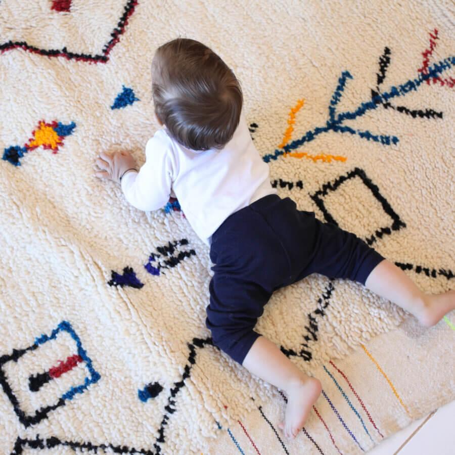 Joaquim on a Berber rug